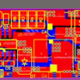 车前大灯外置驱动36W内置MOS降压恒流驱动方案
